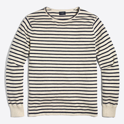 "Cotton striped rollneckâ""¢ sweater"