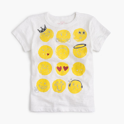 Girls' emoji T-shirt