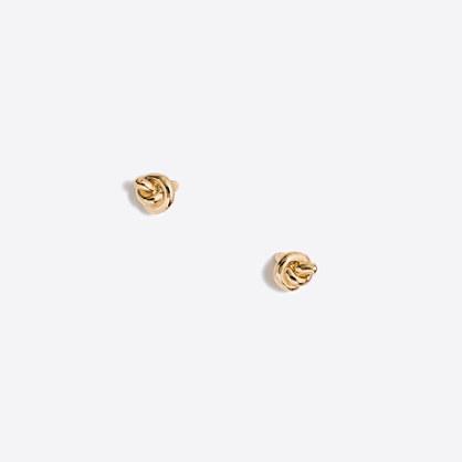 Golden knot stud earrings