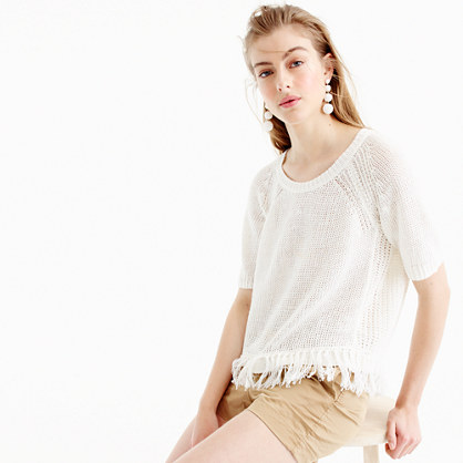 Fringy sweater