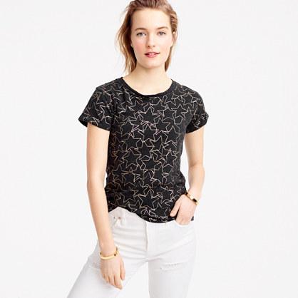 Metallic stars T-shirt