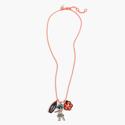 Girls' tropical charm necklace