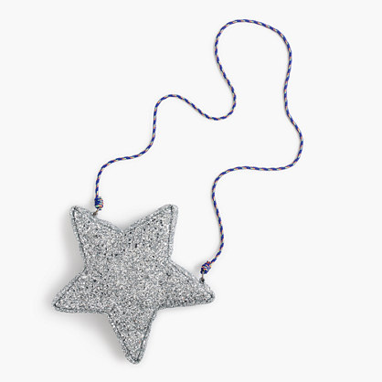 Girls' glitter star bag