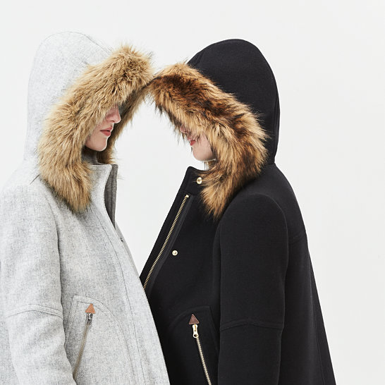 Chateau parka in Italian stadium-cloth wool : Women coats ...